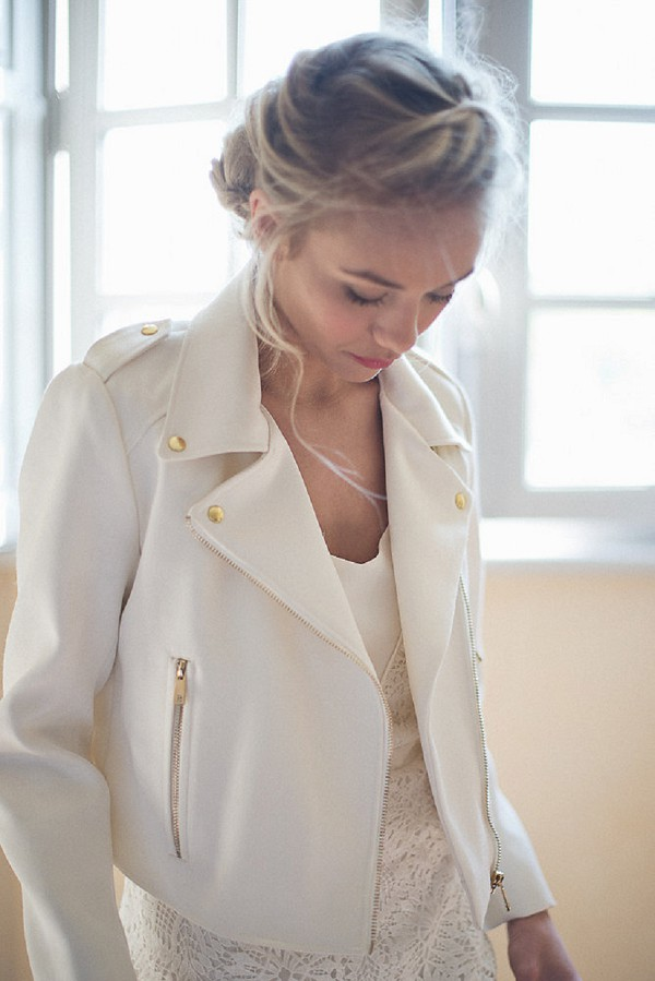 white wedding jacket
