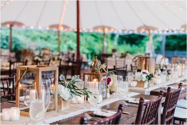 French wedding lighting ideas lantern centrepiece