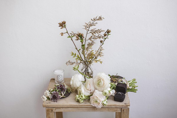 Natural wedding florals