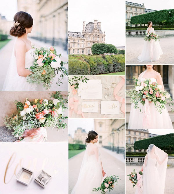 Sophisticated Beauty Paris Wedding Inspiration Snapshot