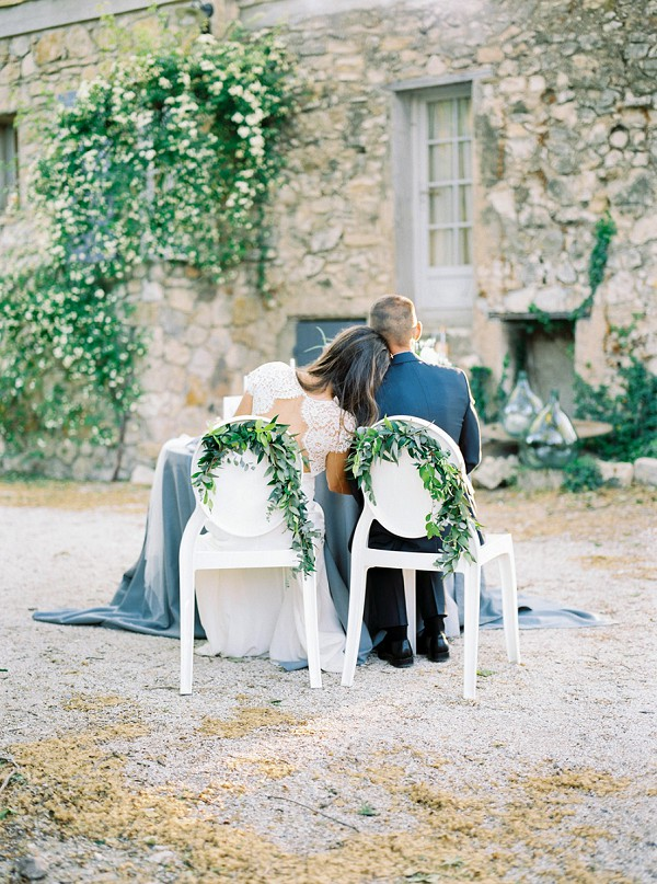 eucalyptus wedding chair decor