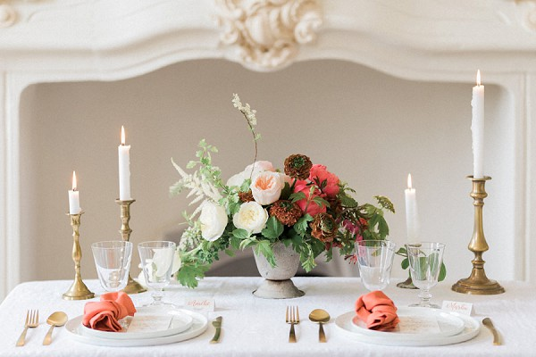 fine art wedding tablescape