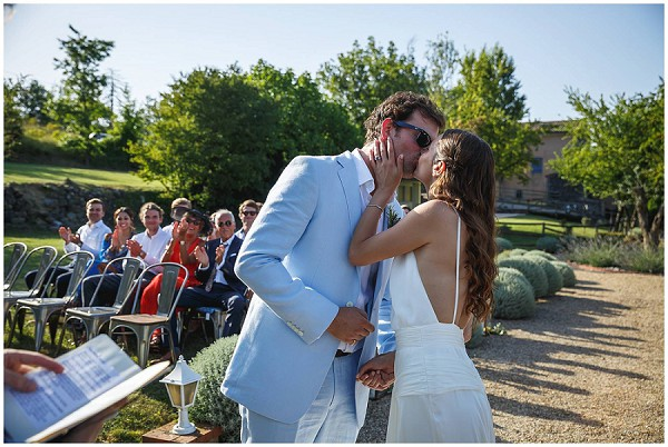 first kiss french wedding