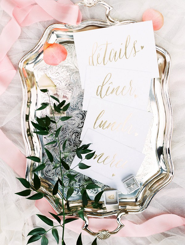 french tray wedding