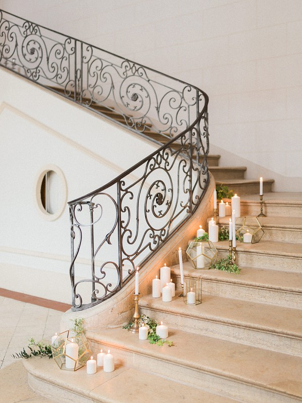 geometric elegant wedding decor