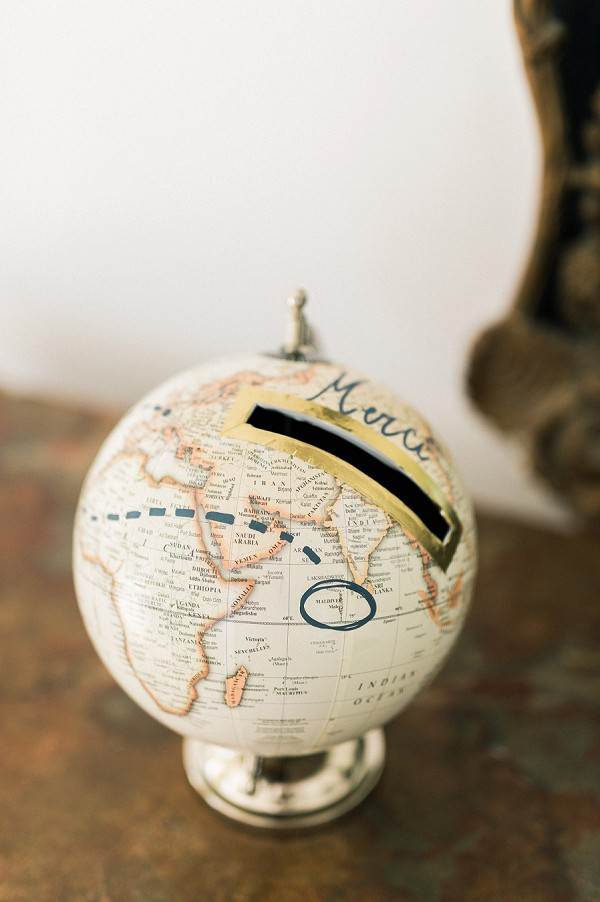 globe wedding detail ideas