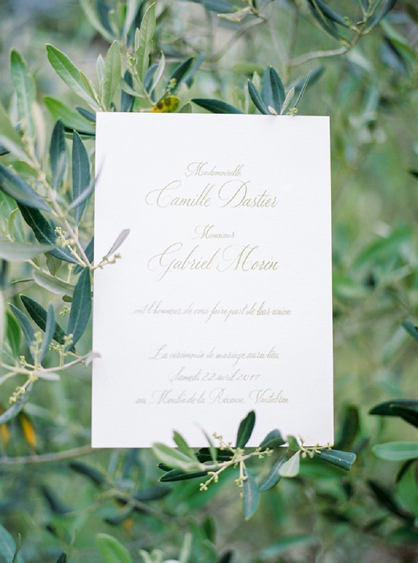 plain and simple wedding stationery