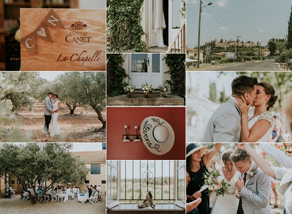 Chateau Canet Outdoor Vineyard Wedding Snapshot