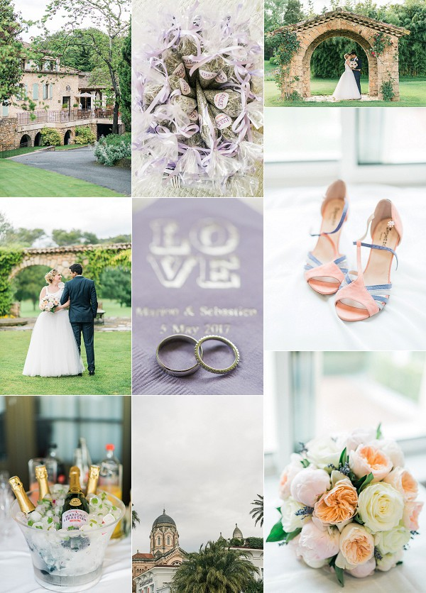 Pretty Countryside Inspired Cannes Wedding Snapshot