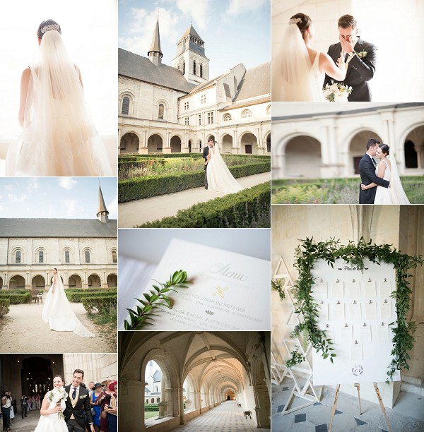 Rosa Clara For Fontevraud l'Abbaye Real Wedding Snapshot