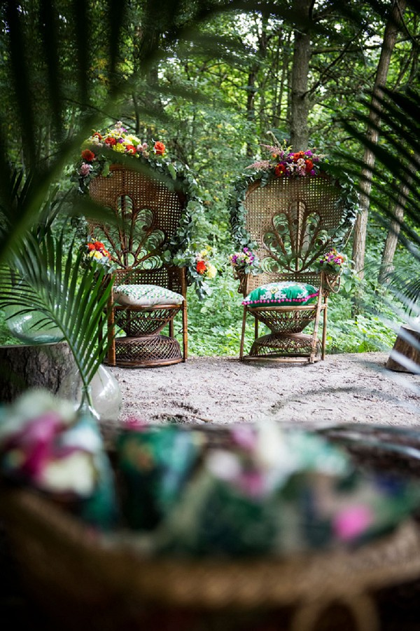 jungle inspired wedding ceremony