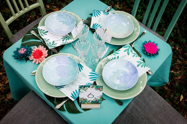 jungle wedding table