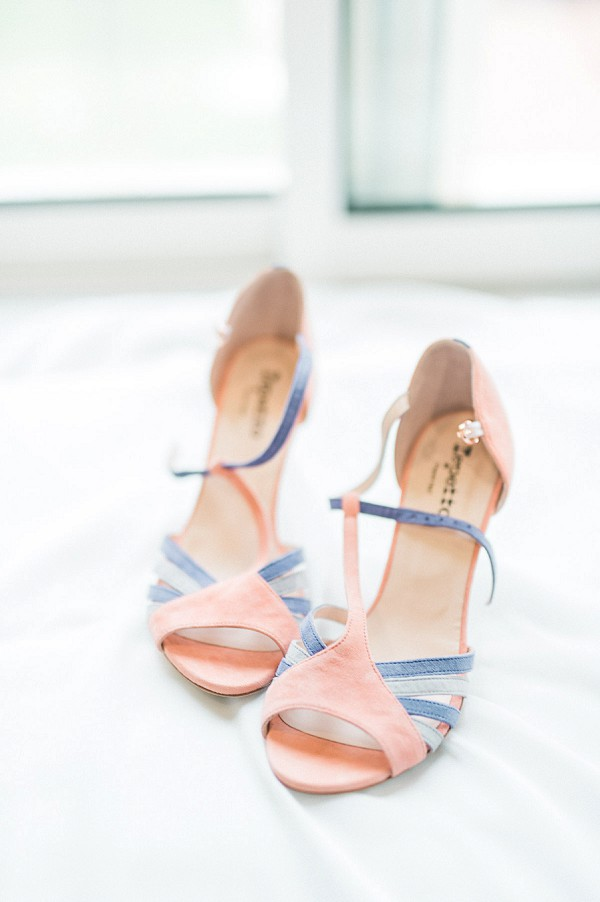 pastel wedding shoes