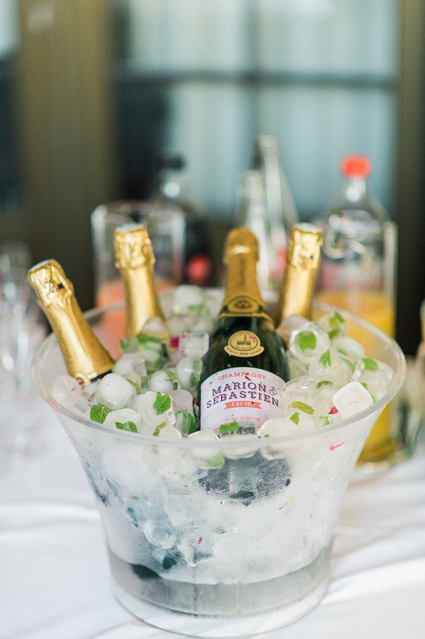 personalised wedding champagne
