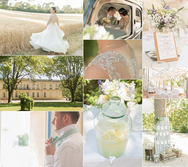 Château de Valmousse Pastel Coloured Wedding Snapshot