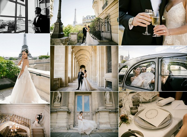 Eiffel Tower Inspired Shangri La Paris Elopement Snapshot