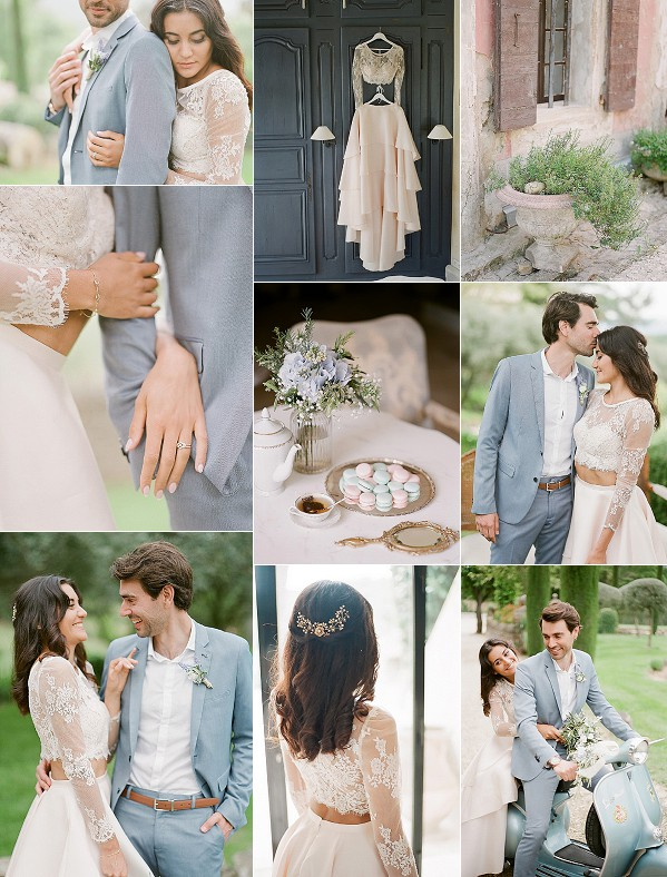 Light Blue Inspired Avignon Wedding Snapshot