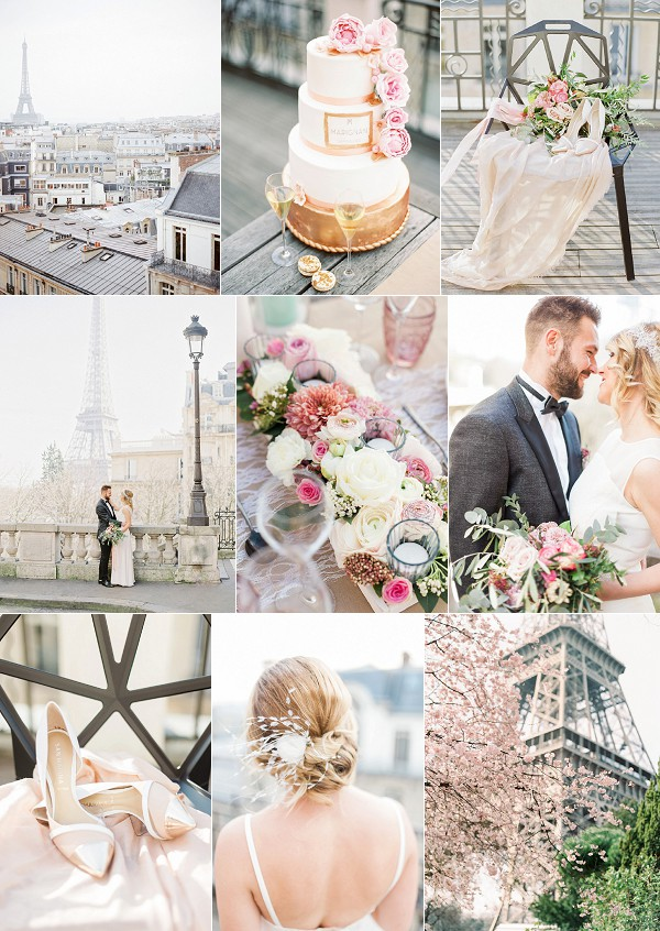 Pretty Pink Champs Elysees Paris Wedding Ideas Snapshot