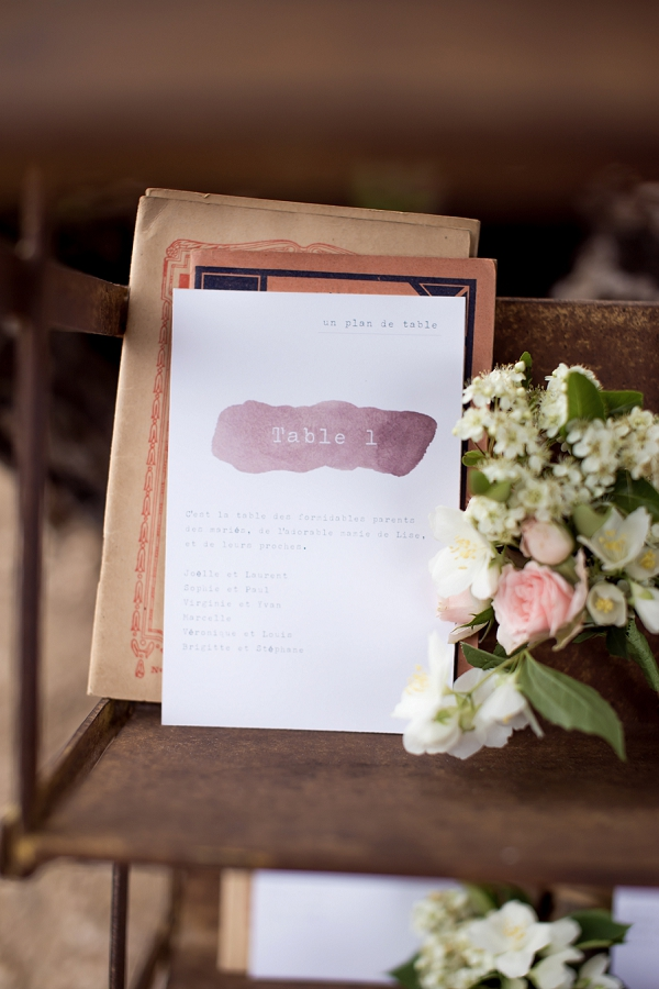 Table plan stationery