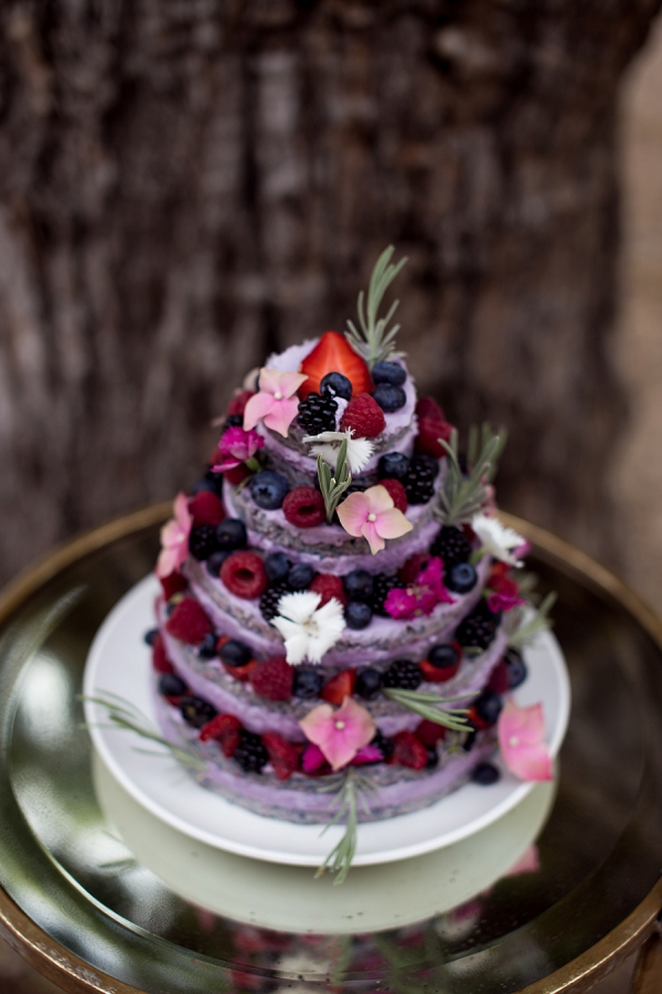 fruit layered wedding cake