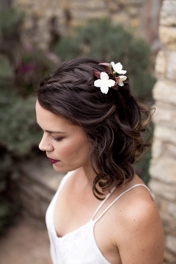 relaxed wedding hair