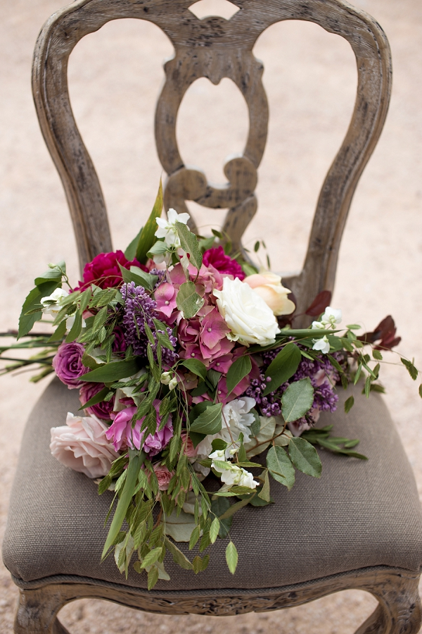 shades of pink wedding flowers