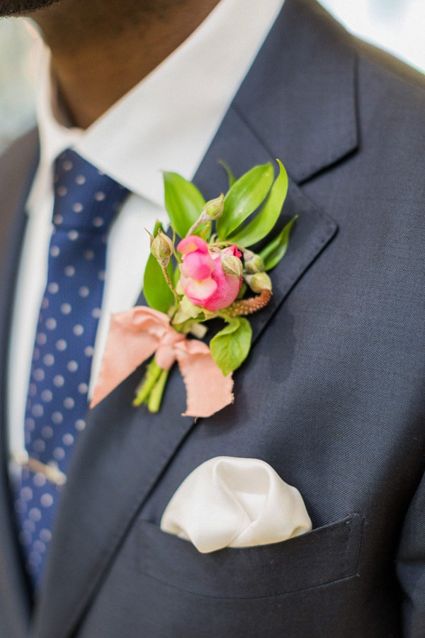 tropical buttonhole