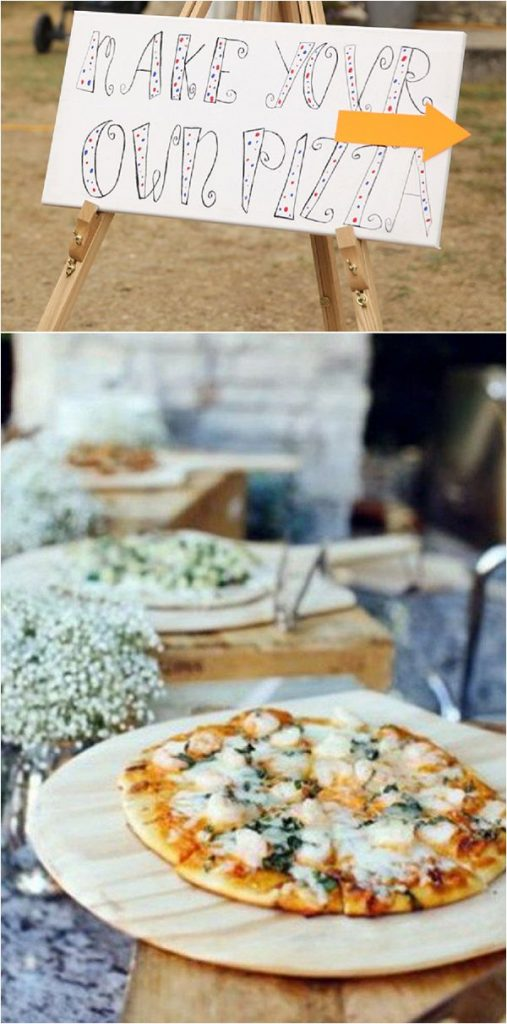 French Inspired Wedding Catering Ideas Pizza Party