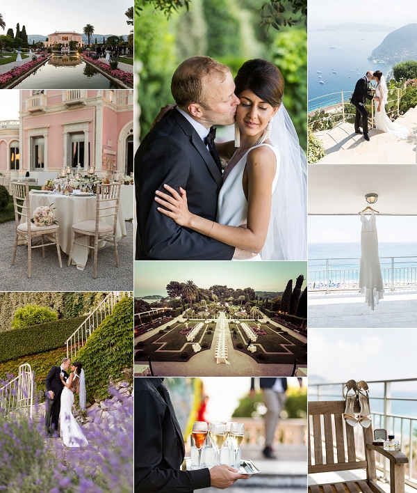 French Riviera Villa Ephrussi de Rothschild Wedding Snapshot