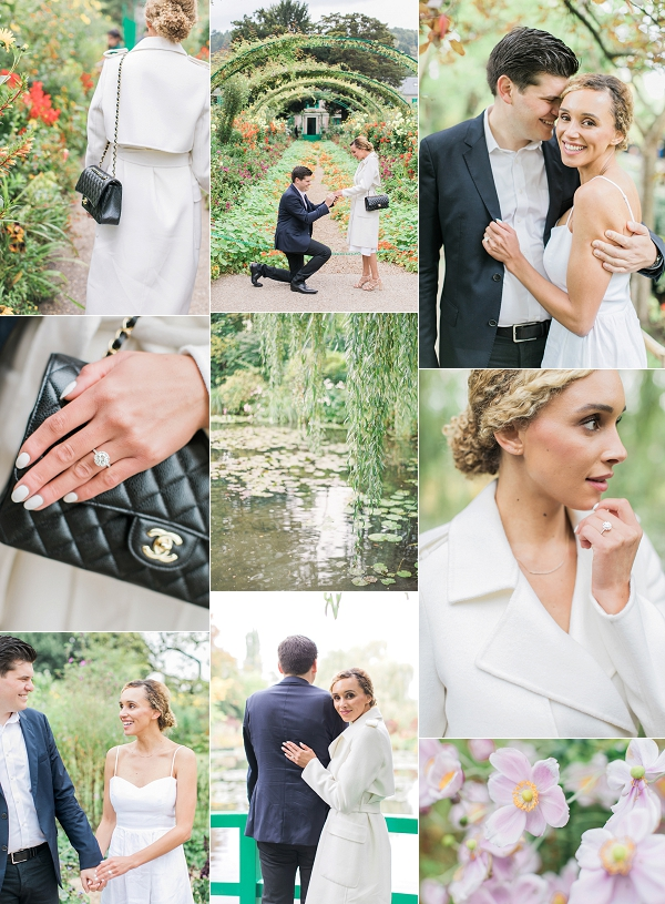 Surprise Engagement at Monet's Garden, Giverny Snapshot