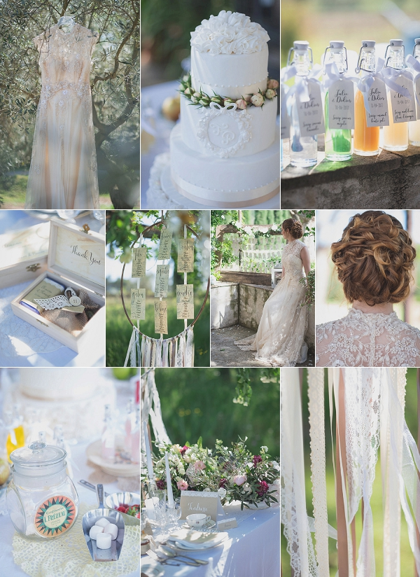 Vintage Inspired Provence Vineyard Wedding Shoot Snapshot