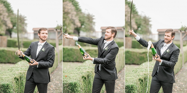 champagne celebration wedding