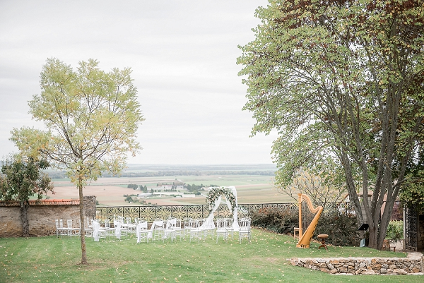 outdoor wedding ceremony view