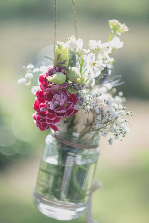 wedding flower jars