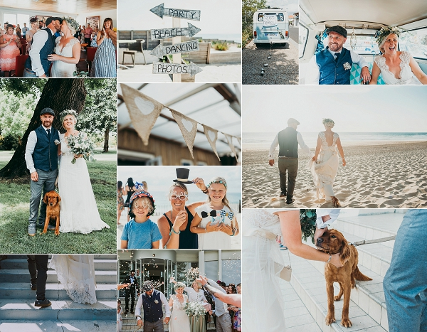Claire Pettibone For Relaxed Beach Wedding Snapshot