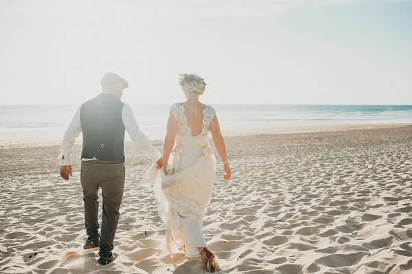 Claire Pettibone beach wedding