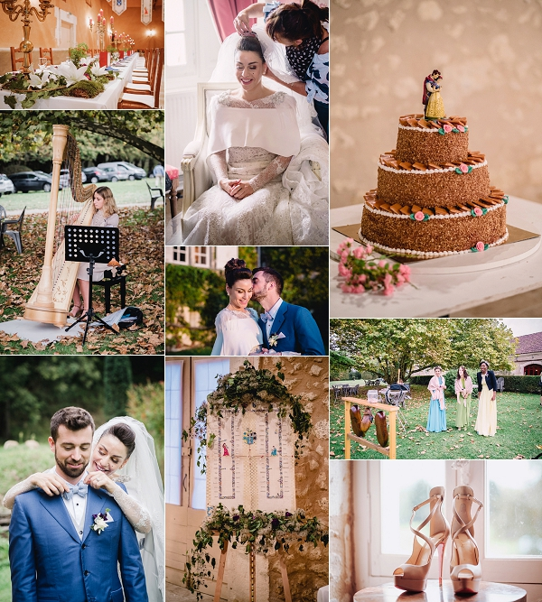French Chateau Medieval Inspired Wedding Snapshot