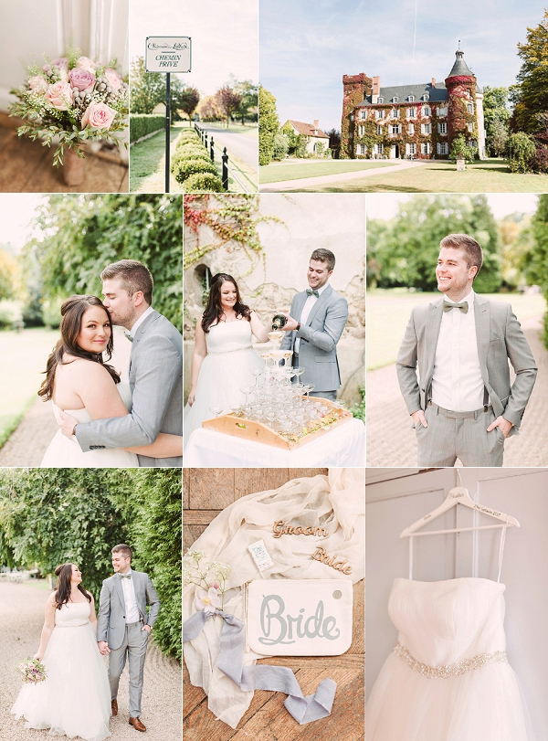 French Romantic Pastel Coloured Chateau Wedding Snapshot