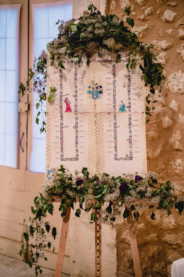 Medieval wedding decor