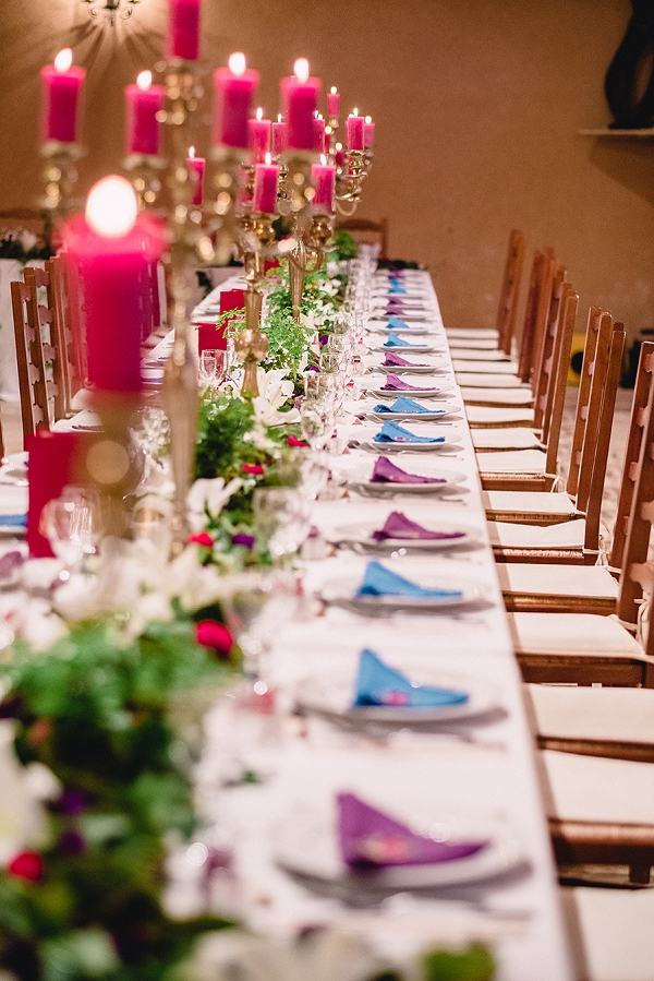 bright pink wedding decor