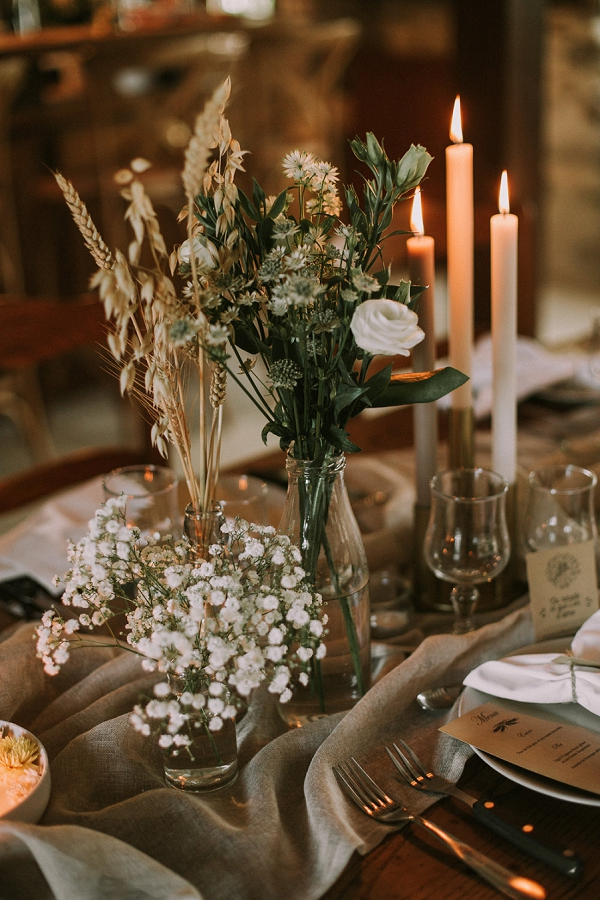 candle lit wedding table