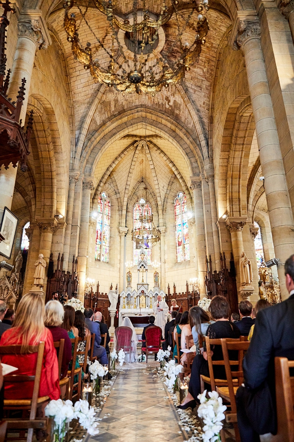 historic french church wedding