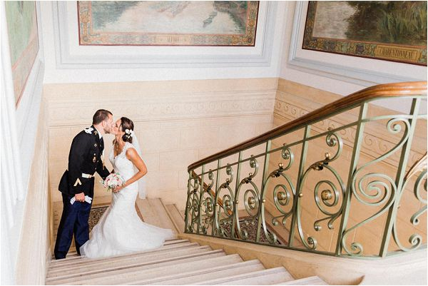 indoor french wedding ceremony