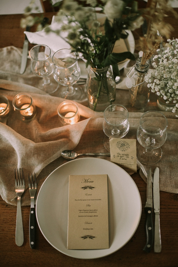 nature inspired table scape