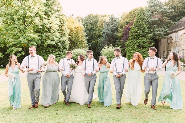 pastel green wedding bridesmaid dresses