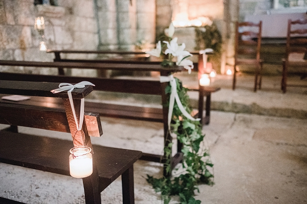 rustic church wedding decor