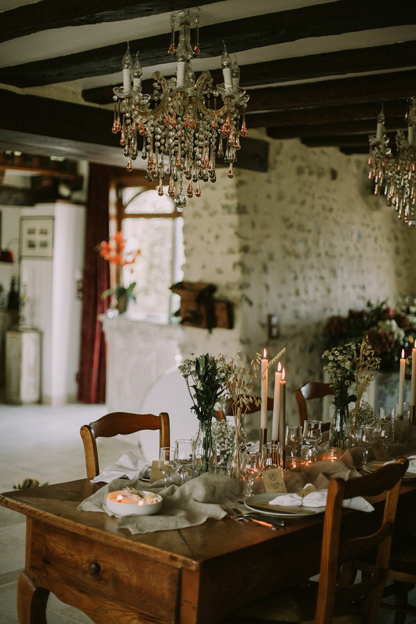 rustic table scape