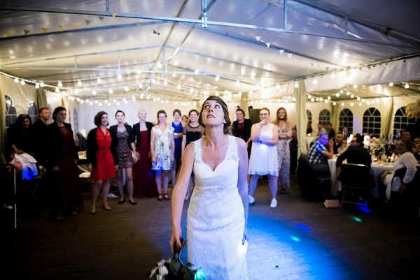 French Wedding Bouquet Toss
