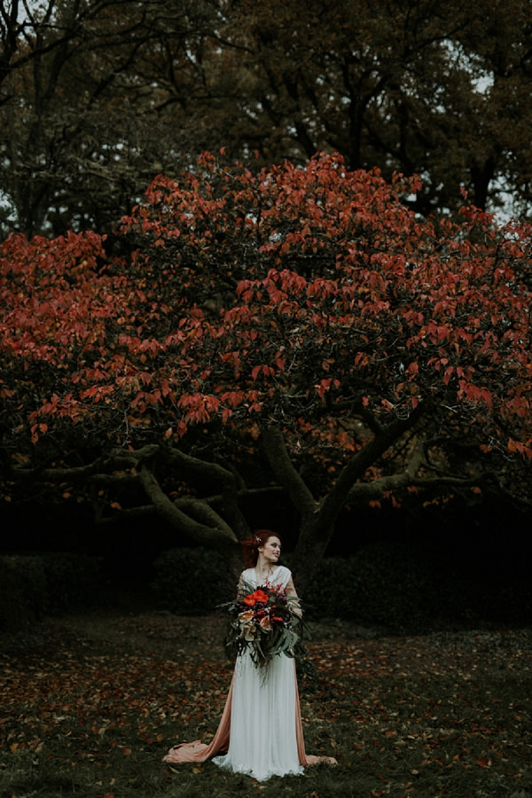 autumn wedding photo