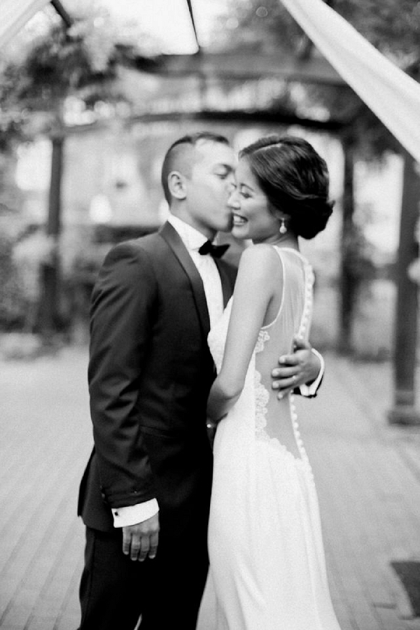 classic black and white wedding photo